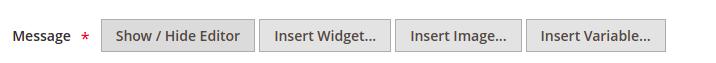 Show Hide Editor in Magento 2